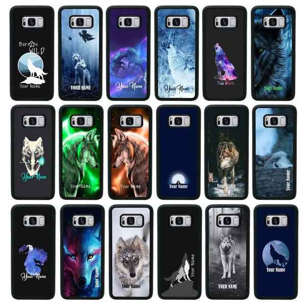 Personalised Wolf Case Phone Cover for Samsung Galaxy S10 Plus I-Choose Ltd