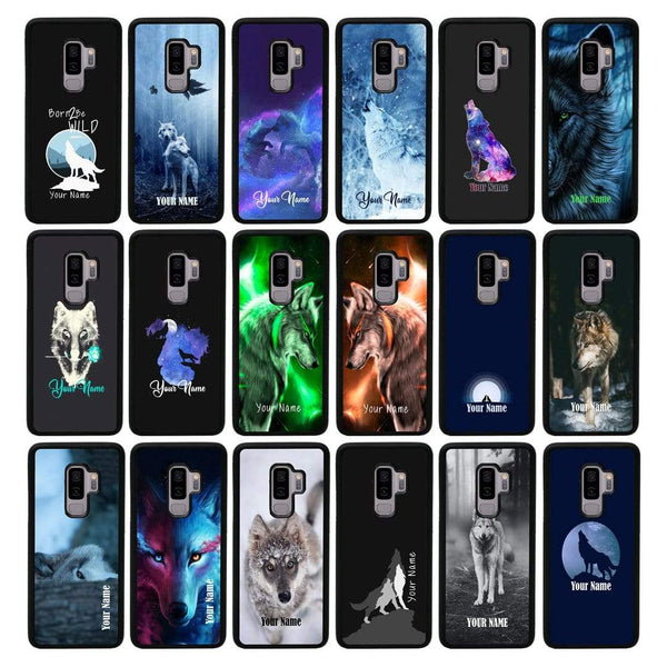 Personalised Wolf Case Phone Cover for Samsung Galaxy S9 Plus I-Choose Ltd