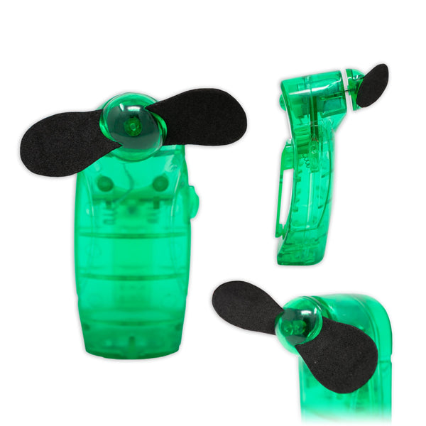 Portable Handheld Mini Electric Fan in Green Battery Powered I-Choose Ltd