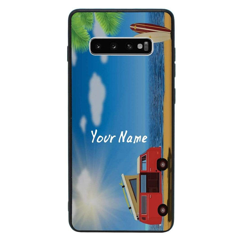 Samsung Galaxy S10 Personalised Name Case Glass Cover / Hippy I-Choose Ltd