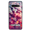 Samsung Galaxy S10 Plus Personalised Name Case Glass Cover / Abstract I-Choose Ltd