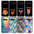 Samsung Galaxy S10 Plus Personalised Name Case Glass Cover / Geometric I-Choose Ltd