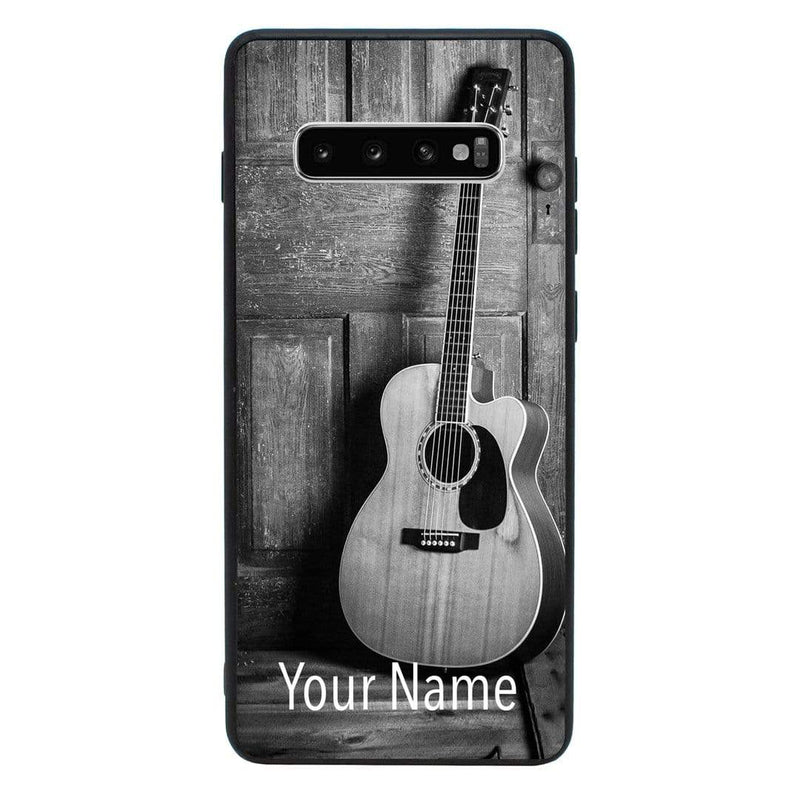 Samsung Galaxy S10 Plus Personalised Name Case Glass Cover / Guitar I-Choose Ltd