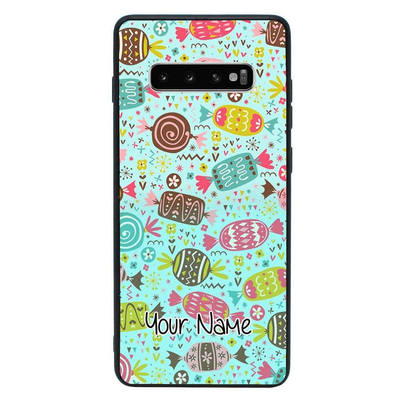 Samsung Galaxy S10 Plus Personalised Name Case Glass Cover / Sweets I-Choose Ltd