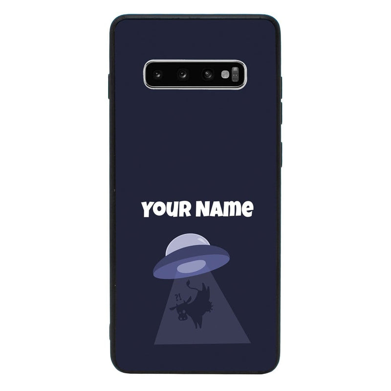 Samsung Galaxy S10E Personalised Name Case Glass Cover / Aliens I-Choose Ltd