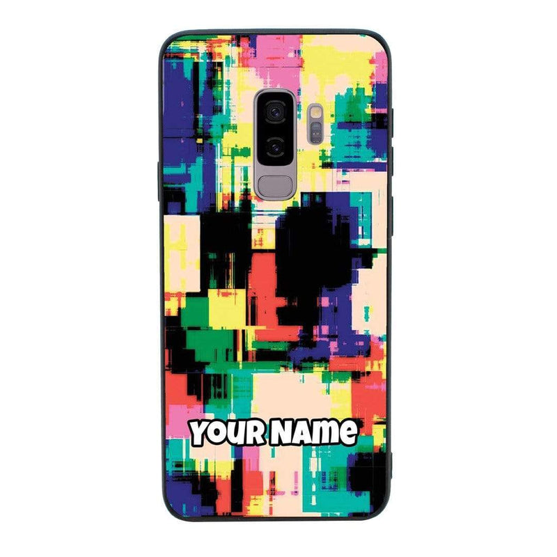 Samsung Galaxy S9 Personalised Name Case Glass Cover / Abstract I-Choose Ltd