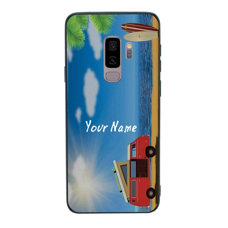 Samsung Galaxy S9 Personalised Name Case Glass Cover / Hippy I-Choose Ltd