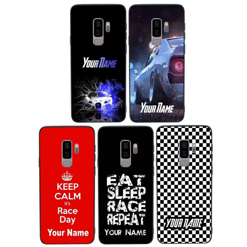 Samsung Galaxy S9 Plus Personalised Name Case Glass Cover / Boy Racer I-Choose Ltd