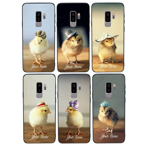 Samsung Galaxy S9 Plus Personalised Name Case Glass Cover / Chicken I-Choose Ltd