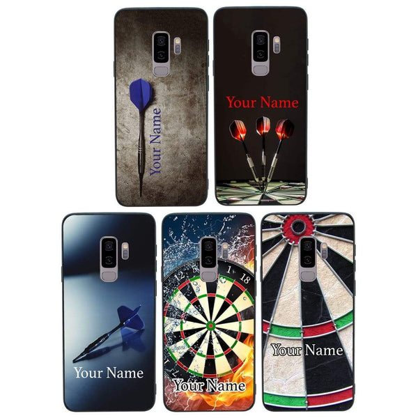 Samsung Galaxy S9 Plus Personalised Name Case Glass Cover / Darts I-Choose Ltd