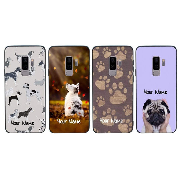 Samsung Galaxy S9 Plus Personalised Name Case Glass Cover / Dogs I-Choose Ltd