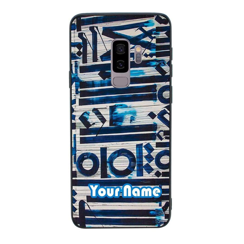 Samsung Galaxy S9 Plus Personalised Name Case Glass Cover / Graffiti I-Choose Ltd