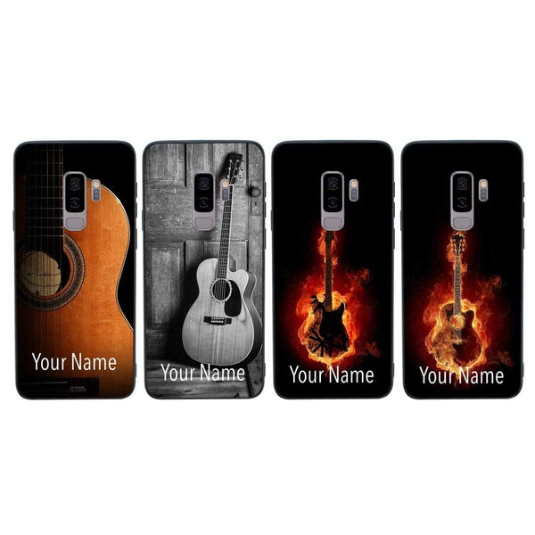 Samsung Galaxy S9 Plus Personalised Name Case Glass Cover / Guitar I-Choose Ltd