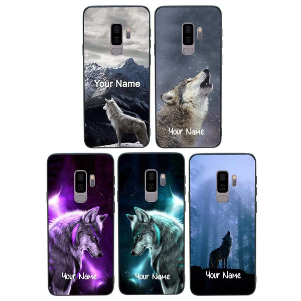 Samsung Galaxy S9 Plus Personalised Name Case Glass Cover / Wolves I-Choose Ltd