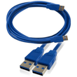 USB 3.0 SuperSpeed A Male to A Male Cable Blue 2m I-Choose Ltd