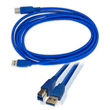 USB 3.0 SuperSpeed Printer Cable A to B Blue 3m I-Choose Ltd