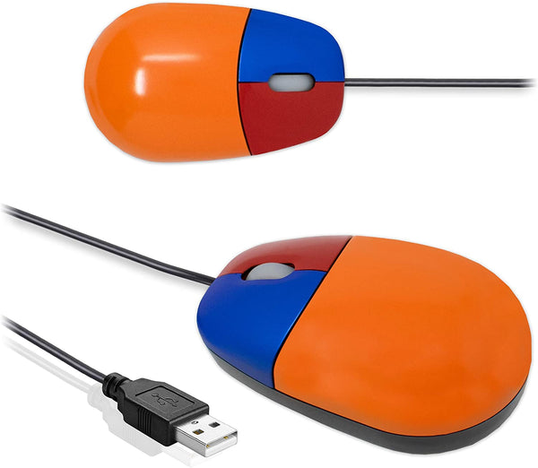 USB Wired Optical 3 Button Learning Mouse for PC Computer I-Choose Ltd