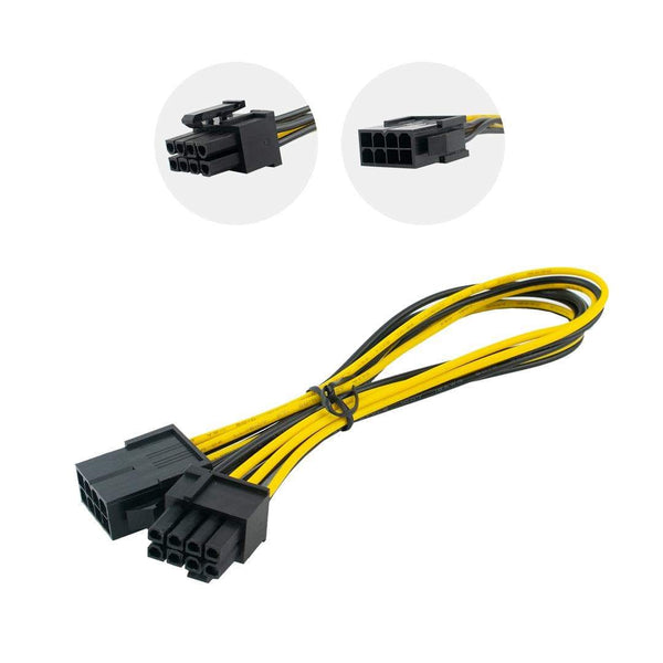 Cablexpert CC-PSU-84 6+2 Pin PCI Express Power Extension Cable iChoose Ltd