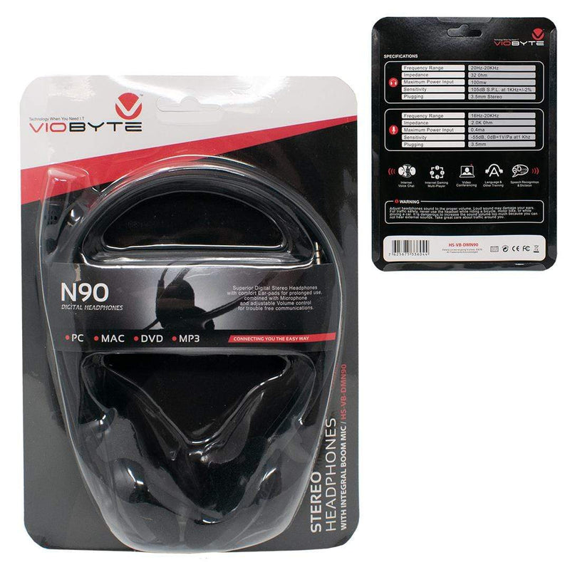 Viobyte N90 3.5mm Overhead Stereo Computer Headset with Microphone iChoose Ltd