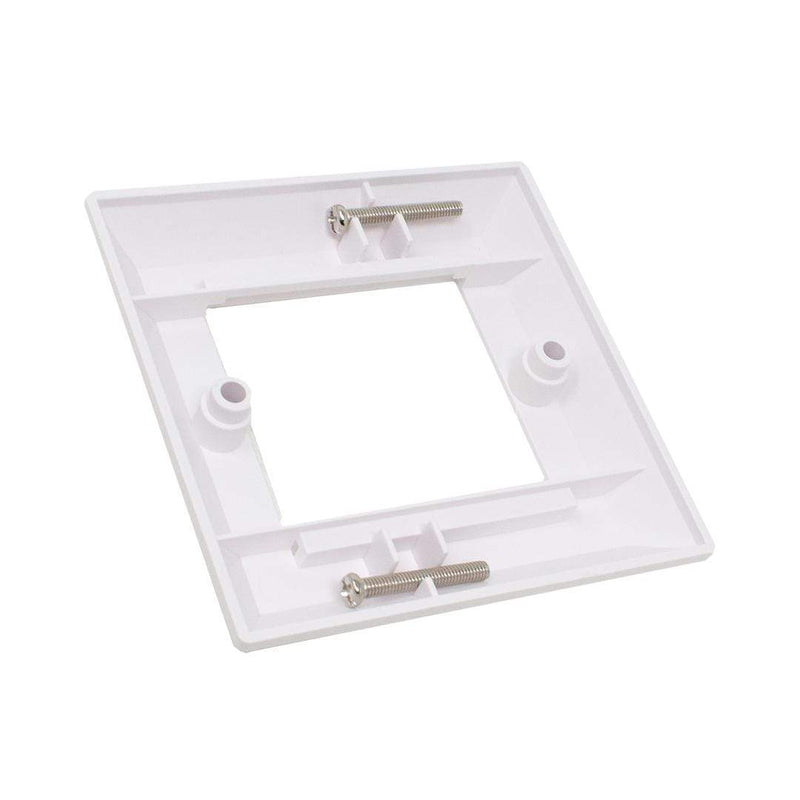 KAUDEN SX7067WH Twin Module Bevelled Faceplate for UK Back Box KAUDEN