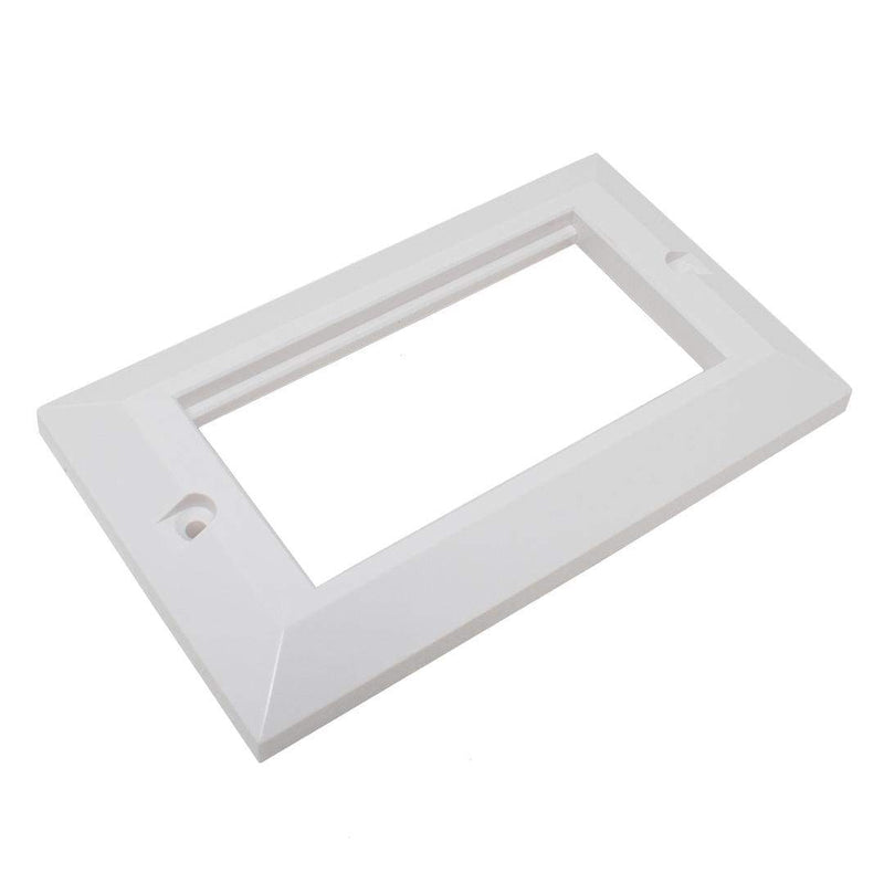 KAUDEN SX7071WH Quad Bevelled Faceplate for UK Back Box White KAUDEN