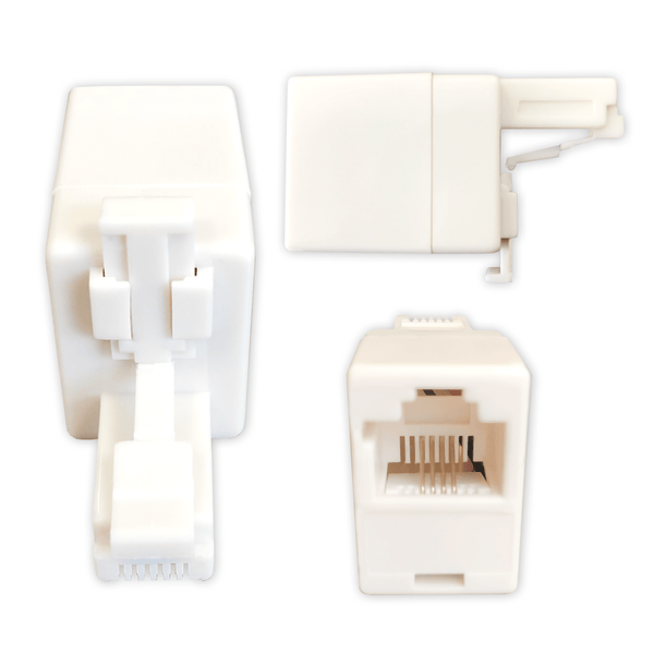 RJ11 to RJ45 BT Telephone Adapter Convertor Coupler 4P4C Socket KAUDEN