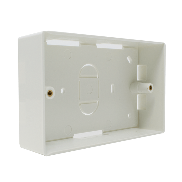 Double Gang BB-DOUBLE-32 Electrical Pattress Back Box White LMS Data
