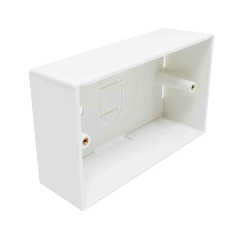 Double Gang BB-DOUBLE-46 Electrical Pattress Back Box White LMS Data