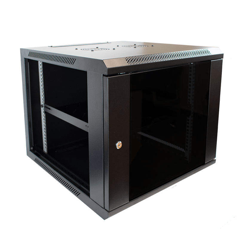 "LMS Data 003-304-002-04 9U 19"" Wall Mount Data Server Cabinet LMS Data"