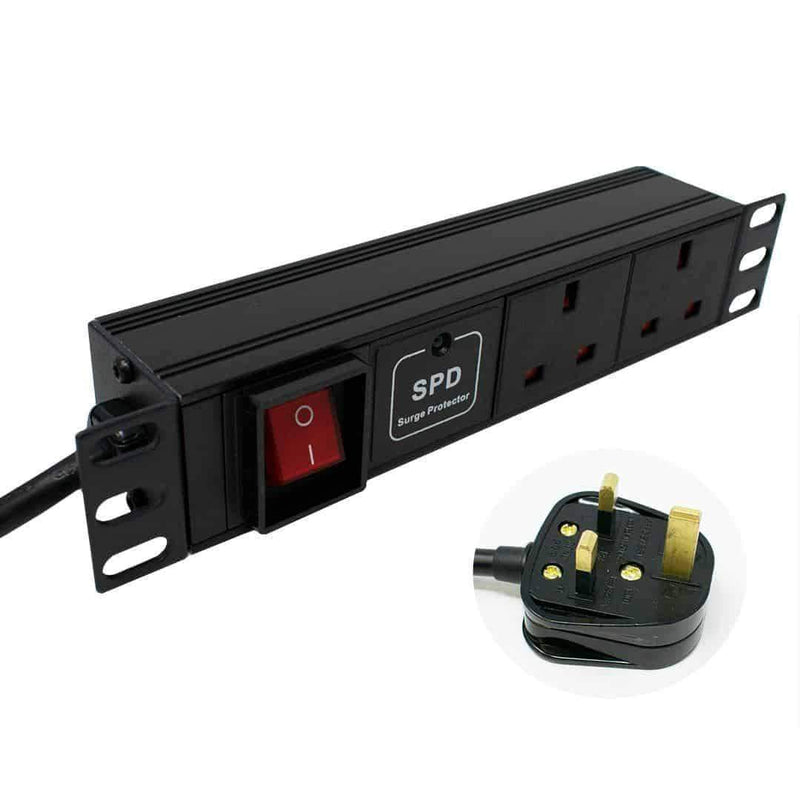 "LMS Data PDU-2WS-H-SP-SOHO 1U 2 Way 10"" Surge Protection PDU LMS Data"