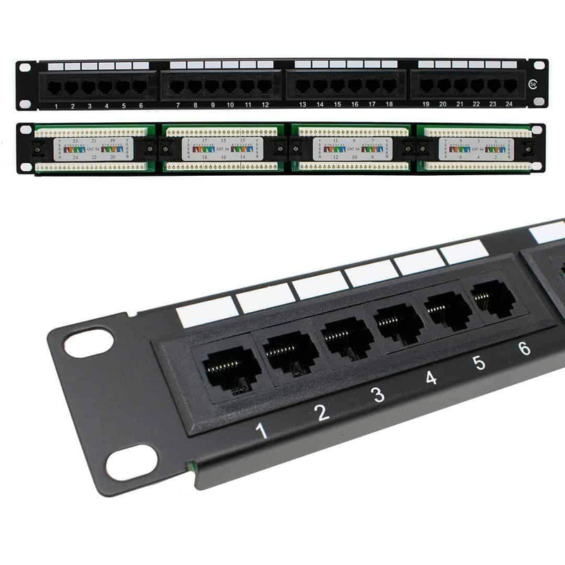 LMS Data PPAN-24-LC2 Cat5e 1U 24 Port Patch Panel for Cabinet LMS Data