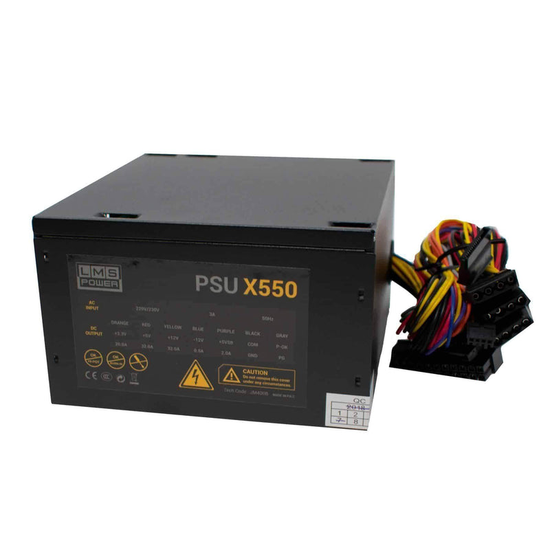 LMS X550 550W ATX PSU Switching Power Supply with Quiet Fan for PC LMS Data