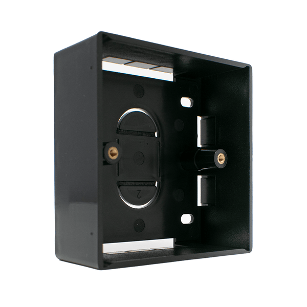 Single Gang BB-868632-BLK Electrical Pattress Back Box Black LMS Data