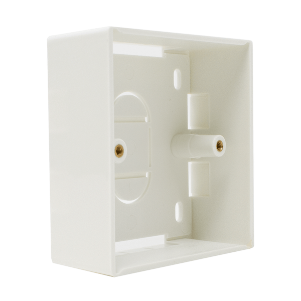 Single Gang BB-868632 Electrical Pattress Back Box White LMS Data