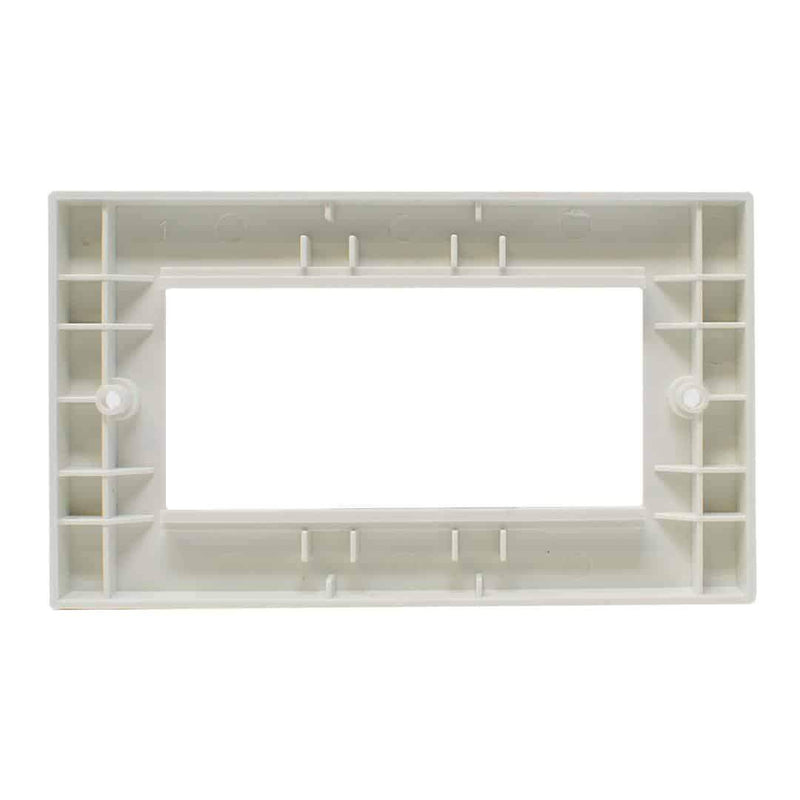 Wall Mount Faceplate Double Gang Low Profile for Modules White LMS Data