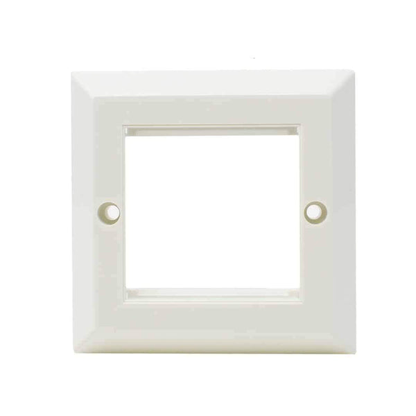 Wall Mount Faceplate Single Gang Bevelled for 2 x Modules White LMS Data