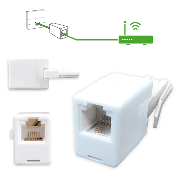 RJ11 BT Male to Female Adapter for Telephones NEWlink