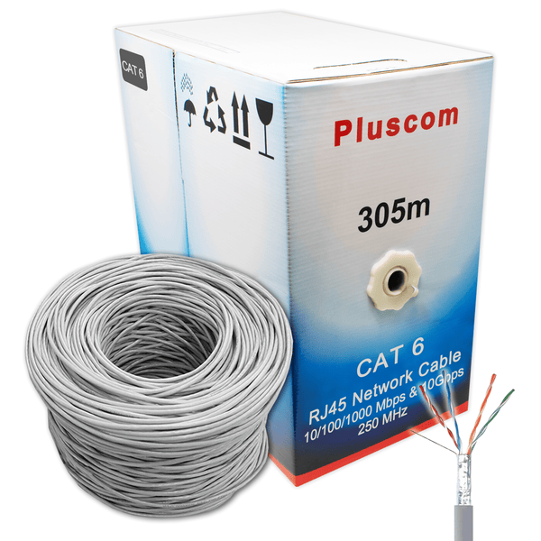 Pluscom FTP-G305M RJ45 Cat6 LAN 4 Pair Shielded FTP Cable 305m Pluscom