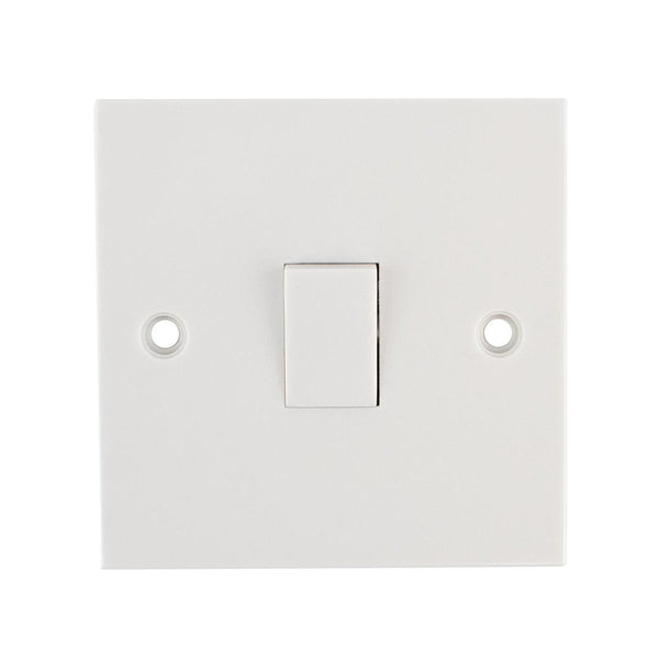 Pro-Elec 2012 Single Socket 2 Way Light Switch Cover Wall Plate Pro Elec