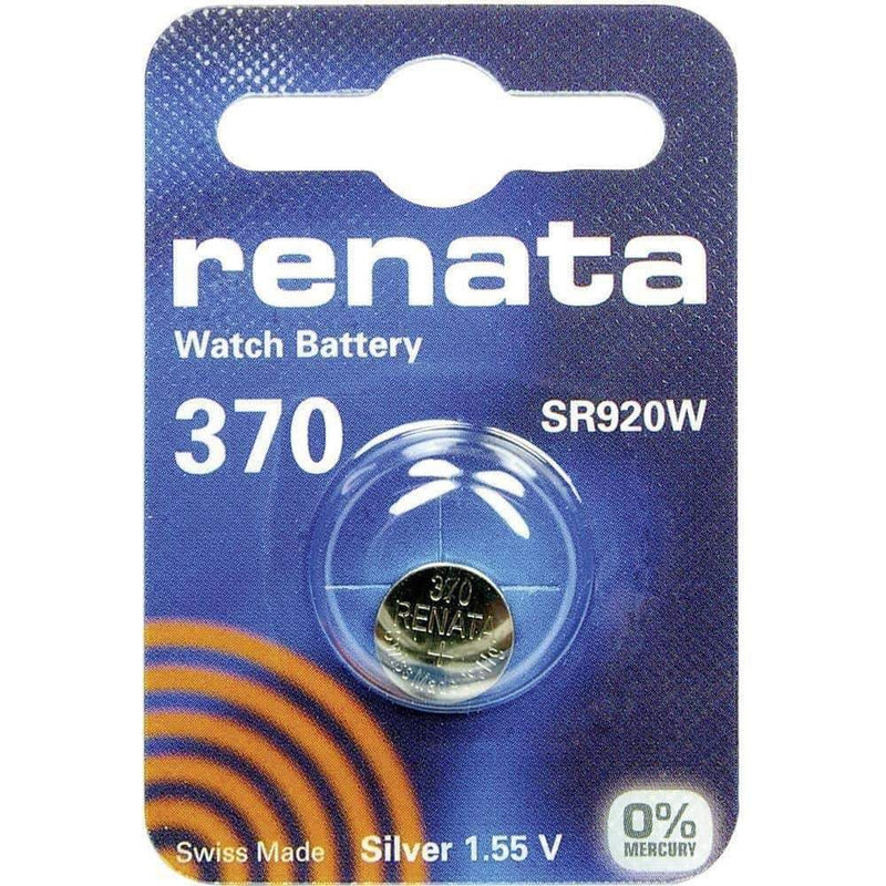 Renata 370 (SR920W) Coin Watch Battery Silver Oxide 1.55V Renata