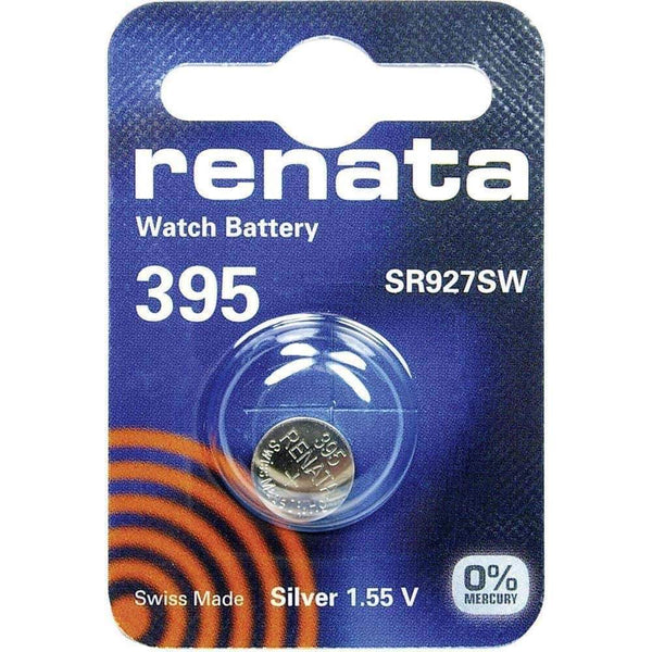 Renata 395 (SR927SW) Coin Watch Battery Silver Oxide 1.55V Renata