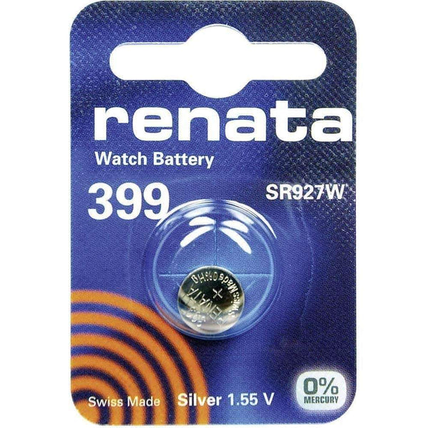 Renata 399 (SR927W) Coin Watch Battery Silver Oxide 1.55V Renata