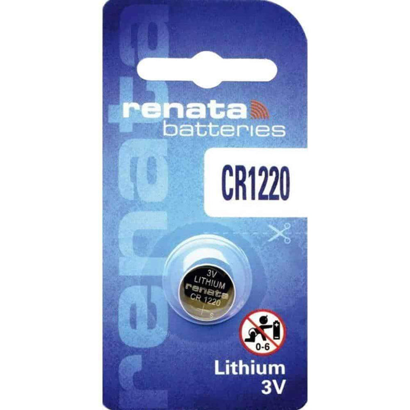 Renata CR1220 Coin Cell Battery Lithium 3V Renata