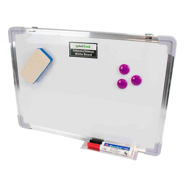 Splinktech Magnetic Whiteboard with Pens and Eraser 500 x 350mm Splinktech