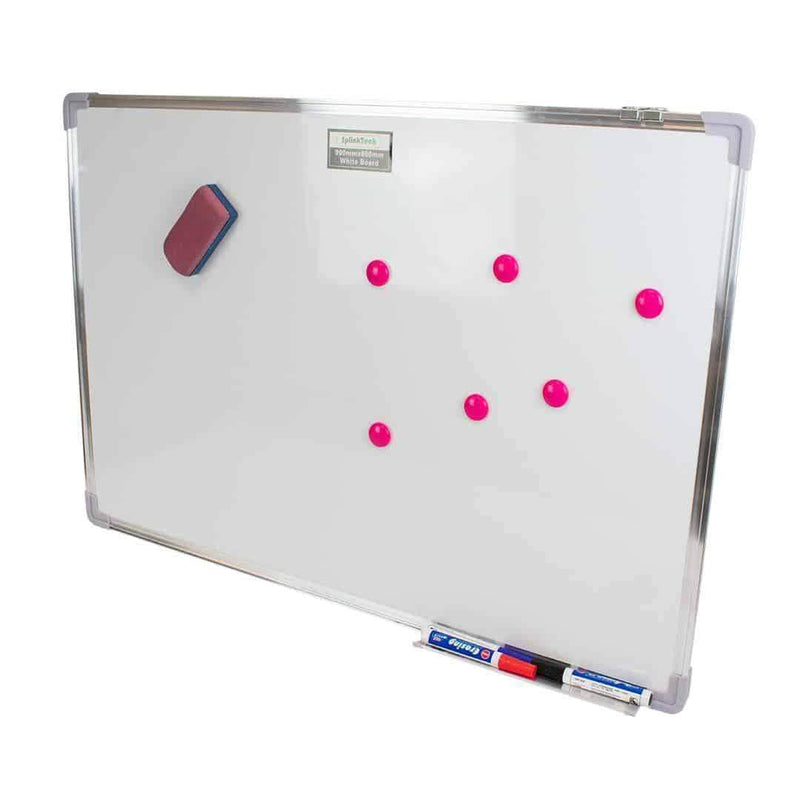 Splinktech Magnetic Whiteboard with Pens and Eraser 900 x 600mm Splinktech
