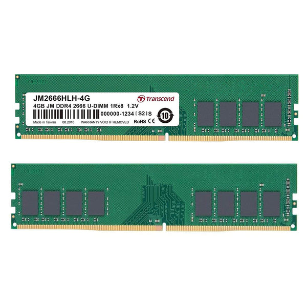 Transcend 4GB (1 x 4GB) DDR4 2666MHz DIMM System Memory Transcend
