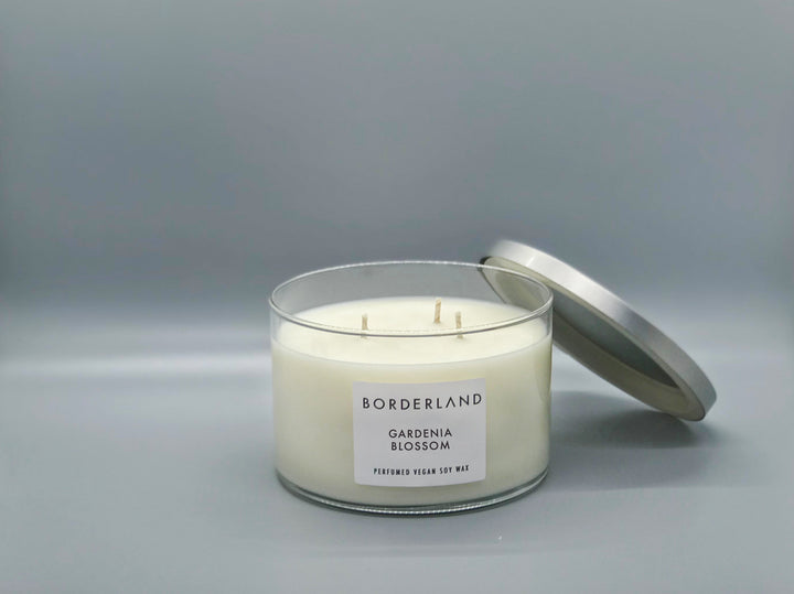 Gardenia Blossom | 3-Wick Candle | Borderland Candle Co | Valentine's Day Gift