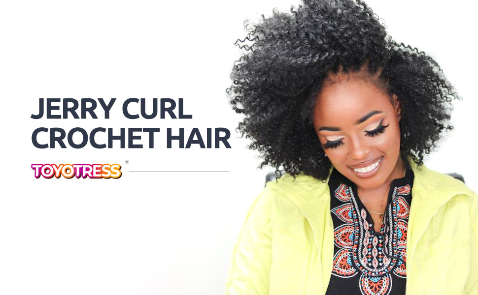 Jerry curl crochet hair 9 inch