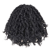 Toyotress Tiana Passion Twist Hair - 8 Inch Pre-Looped Pre-twisted Crochet Braids Hair Synthetic Braiding Hair Extension