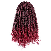 Toyotress Tiana Passion Twist Hair - 14 Inch Pre-Looped Pre-twisted Crochet Braids Hair Synthetic Braiding Hair Extension